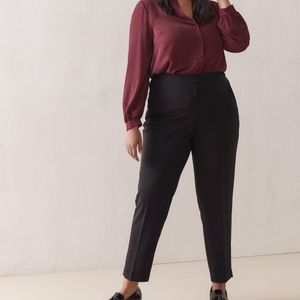 Addition Elle Black Tapered Dress Pants Plus Size